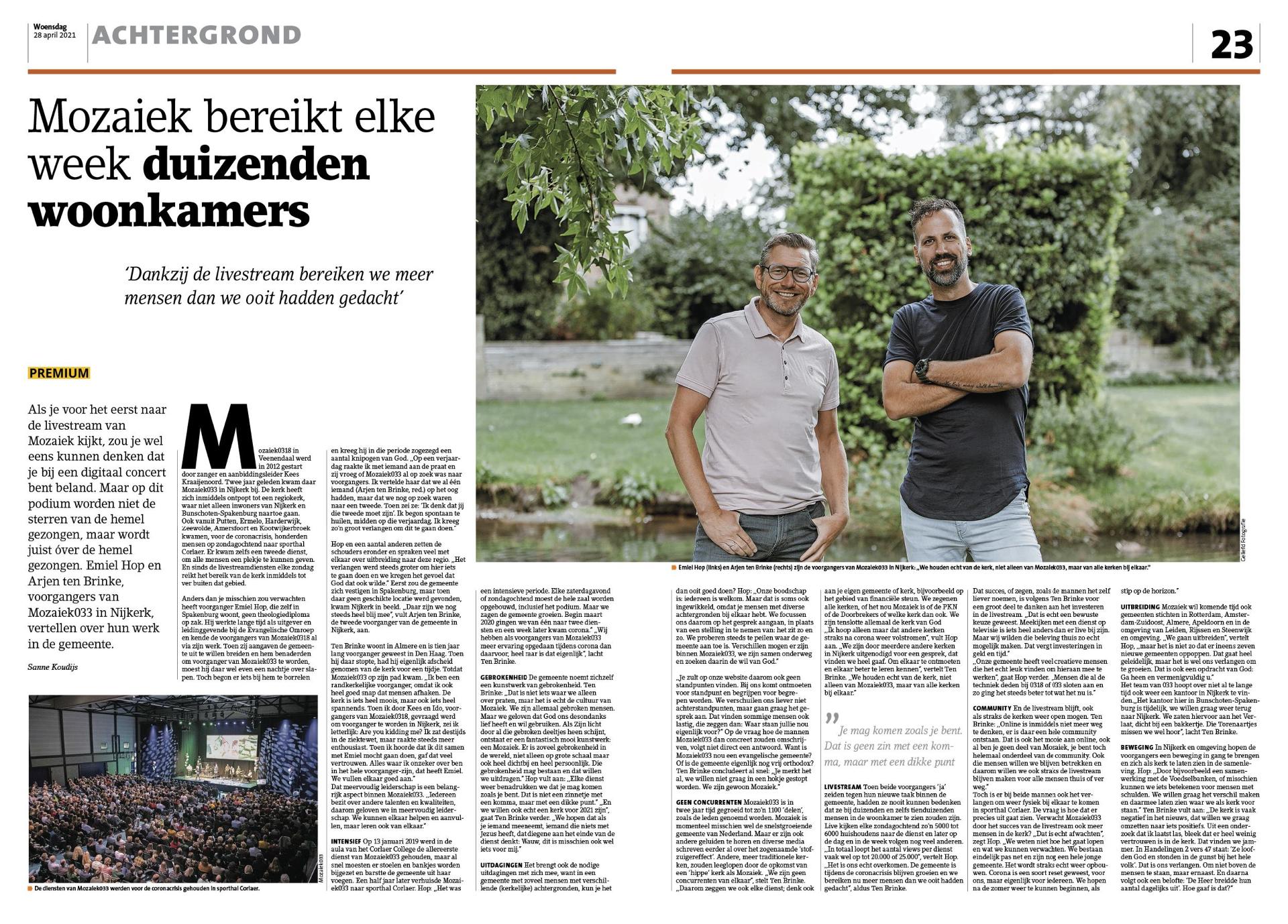 Interview in StadNijkerk